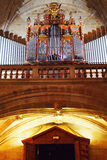 Caceres Cathedral pipe organ Royalty Free Stock Photo