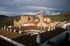 caceres de guadalupe玛丽亚修道院圣诞老人 库存照片