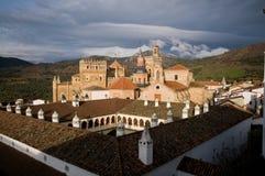 caceres de guadalupe maria kloster santa Arkivfoton