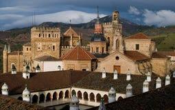caceres de guadalupe maria kloster santa Royaltyfria Foton