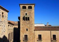Caceres, Extremadura, Espanha Torre medieval Imagem de Stock