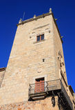 Caceres, Extremadura, Spain. Medieval tower. Royalty Free Stock Images