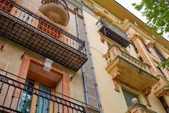 Caceres fasady w Extremadura Hiszpania Zdjęcie Stock