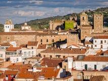 Caceres i Extremadura Spanien Royaltyfria Bilder