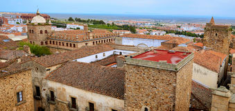 Caceres monumental city Extremadura Spain Royalty Free Stock Photos