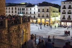 Caceres at Night Stock Photos