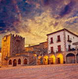 Caceres Plaza Mayor Extremadura of Spain Stock Image
