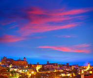 Caceres skyline in Extremadura of Spain Stock Images