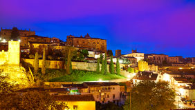 Caceres skyline in Extremadura of Spain Stock Photos