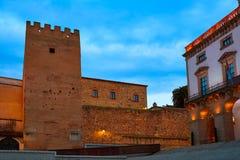 Caceresplein Burgemeester Extremadura van Spanje Royalty-vrije Stock Foto's