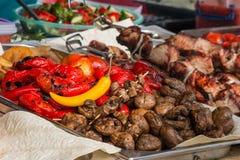 Cacerola con las verduras asadas a la parrilla Imagen de archivo