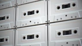 Cacerola de colocación sobre las cintas de casete retras, versión 2 almacen de video