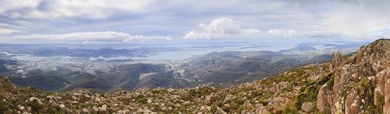 Cacerola de Hobart Mt Wellington 02 imagen de archivo libre de regalías