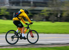 Cacerola de la bici de montaña Fotografía de archivo