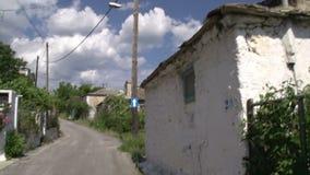 Cacerola de la calle en Theologos, Thassos Grecia almacen de video