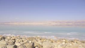 Cacerola de la orilla del mar muerto metrajes