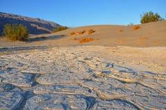 Cacerola de la sal del desierto Fotos de archivo