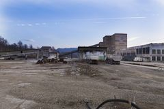 Cacerola de la sal de Slanic Prahova - ruinas Imagenes de archivo