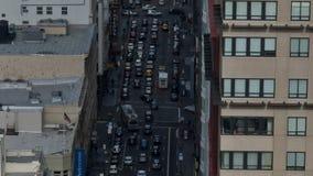 Cacerola de San Francisco City Traffic - lapso de tiempo almacen de video