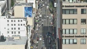 Cacerola de San Francisco City Traffic - lapso de tiempo almacen de metraje de vídeo