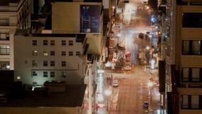Cacerola de San Francisco City Traffic - lapso de tiempo metrajes