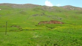 Cacerola de tierras bajas en Azerbaijan almacen de metraje de vídeo
