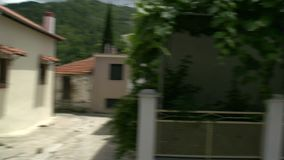 Cacerola de una calle en Maries, Thassos Grecia metrajes
