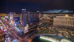 Cacerola del lapso de tiempo del horizonte de Las Vegas almacen de video