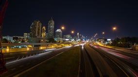 Cacerola del lapso de tiempo del paisaje urbano de Atlanta almacen de video