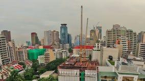Cacerola del lapso de tiempo del paisaje urbano de Bangkok almacen de metraje de vídeo
