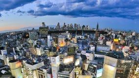 Cacerola del lapso de tiempo del paisaje urbano de Tokio almacen de video