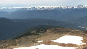 Cacerola del paisaje escénico de la montaña en Canadá almacen de metraje de vídeo