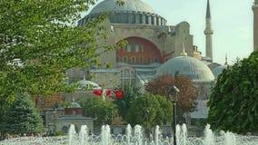 Cacerola Estambul de Hagia Sophia almacen de metraje de vídeo