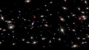 Cacerola profunda del campo de las galaxias stock de ilustración