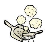 cacerola y cepillo del polvo de la historieta Imagen de archivo libre de regalías