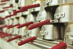 Cacerolas de la cocina Imagen de archivo libre de regalías