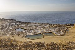 Cacerolas de la sal Foto de archivo libre de regalías