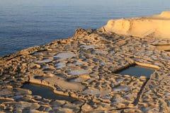 Cacerolas de la sal Fotografía de archivo libre de regalías