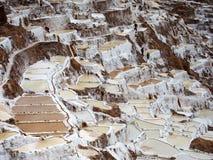 Cacerolas de la sal del inca en Perú Fotografía de archivo