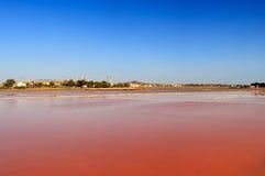 Cacerolas de la sal, Trapan Foto de archivo libre de regalías