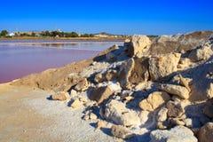 Cacerolas de la sal, Trapan Foto de archivo