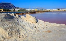 Cacerolas de la sal, Trapan Fotografía de archivo libre de regalías