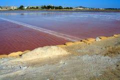 Cacerolas de la sal, Trapan Fotos de archivo