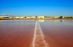 Cacerolas de la sal, Trapan Imagen de archivo libre de regalías