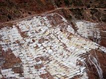 Cacerolas en Maras, Perú de la sal del inca Fotografía de archivo libre de regalías