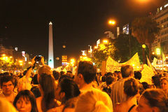Cacerolazo Demonstation in Buenos Aires Royalty Free Stock Photography