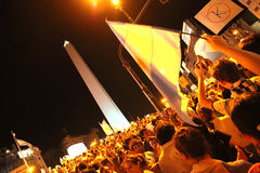 Cacerolazo Demonstation in Buenos Aires Royalty Free Stock Images