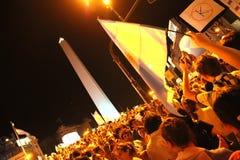 Cacerolazo Demonstation в Buenos Aires Стоковые Изображения RF