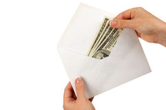 Cach in envelope Royalty Free Stock Images