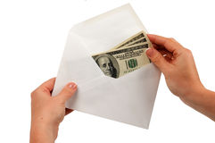 Cach in envelope Stock Images